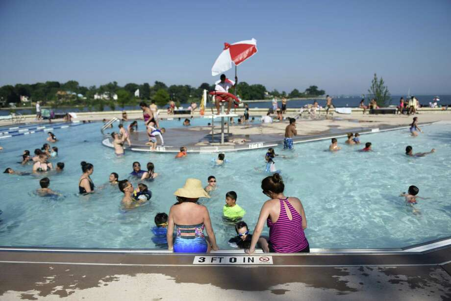 One place to beat the heat this week is the new pool at Byram Park in Greenwich that opened earlier this summer. Photo: File / Tyler Sizemore / Hearst Connecticut Media / Greenwich Time
