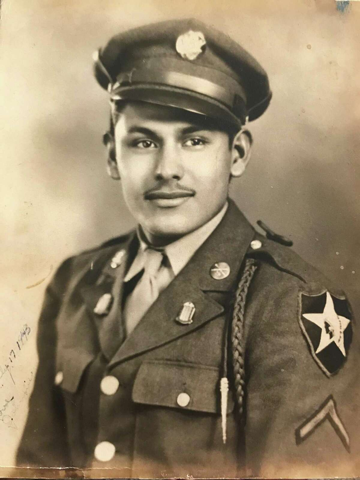 """Johnnie Marino was a U.S. soldier from Texas who liberated concentration camps at the end of World War II. He, and others, are featured in a new exhibit at the Holocaust Museum Houston, titled """"The Texas Liberator: Witness to the Holocaust."""""""