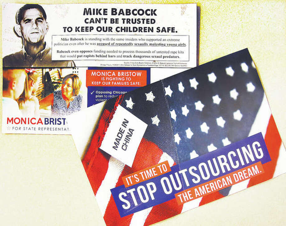 "Campaign mailers sent out recently aimed at Republican challenger for the state's 111th District seat Mike Babcock suggest he ""can't be trusted to keep our children safe."" Photo: John Badman 