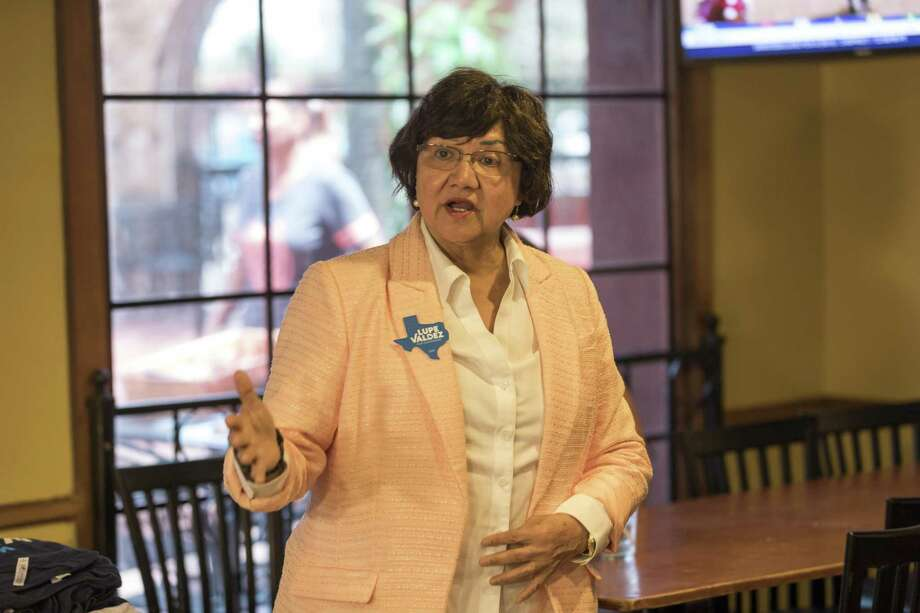 Lupe Valdez makes a stop Monday, August, 20, 2018 in Odessa for a Lunch with Lupe event at Ajuua's Mexican Restaurant.  Jacy Lewis/191 News Photo: Jacy Lewis/191 News