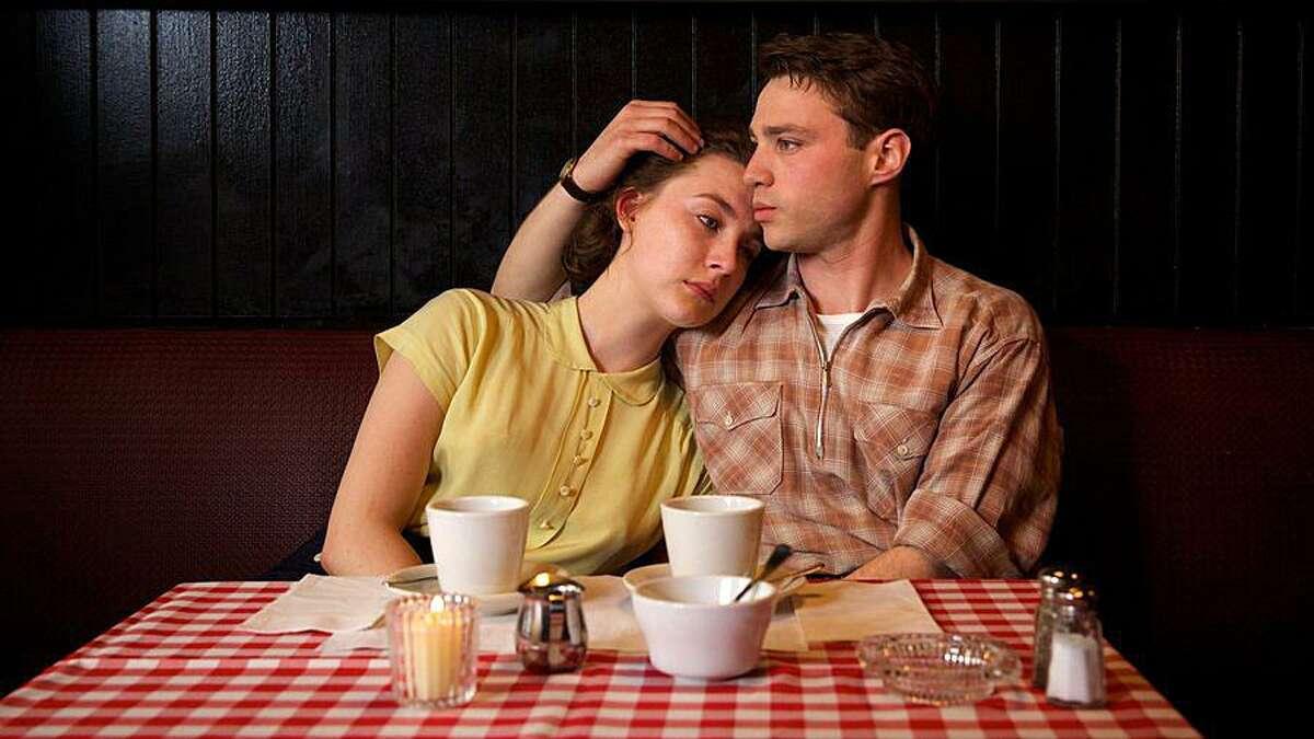 "Good novel, luminous movie: Saoirse Ronan and Emory Cohen in ""Brooklyn."""