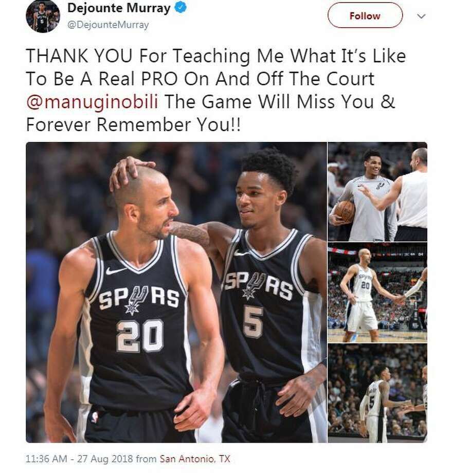 Current and former NBA players showed love for Manu Ginobli after he announced his retirement. Photo: Screenshot/Twitter