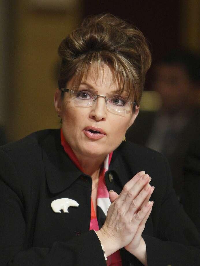 Alaska Gov. Sarah Palin speaks in Washington. Photo: Charles Dharapak, AP