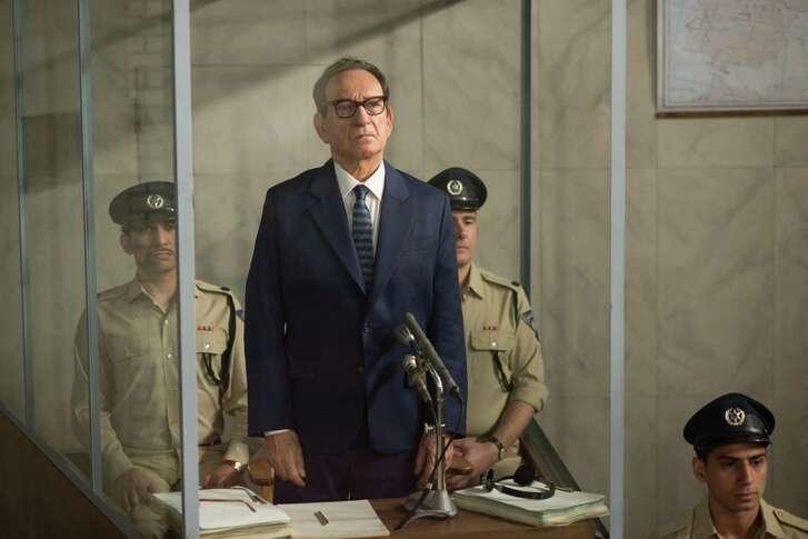 "Ben Kingsley as Nazi war criminal Adolf Eichmann in the new film ""Operation Finale."""