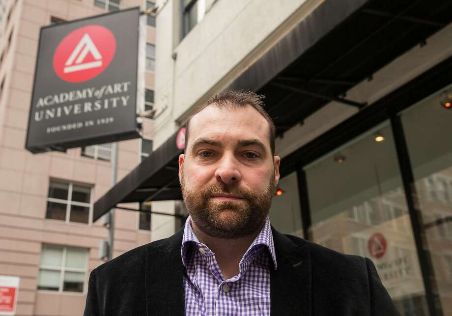 Scott Rose is a whistle-blowing plaintiff in a case charging that Academy of Art used illegal recruiting tactics to enroll students who were unlikely to graduate. Photo: Jessica Christian / The Chronicle