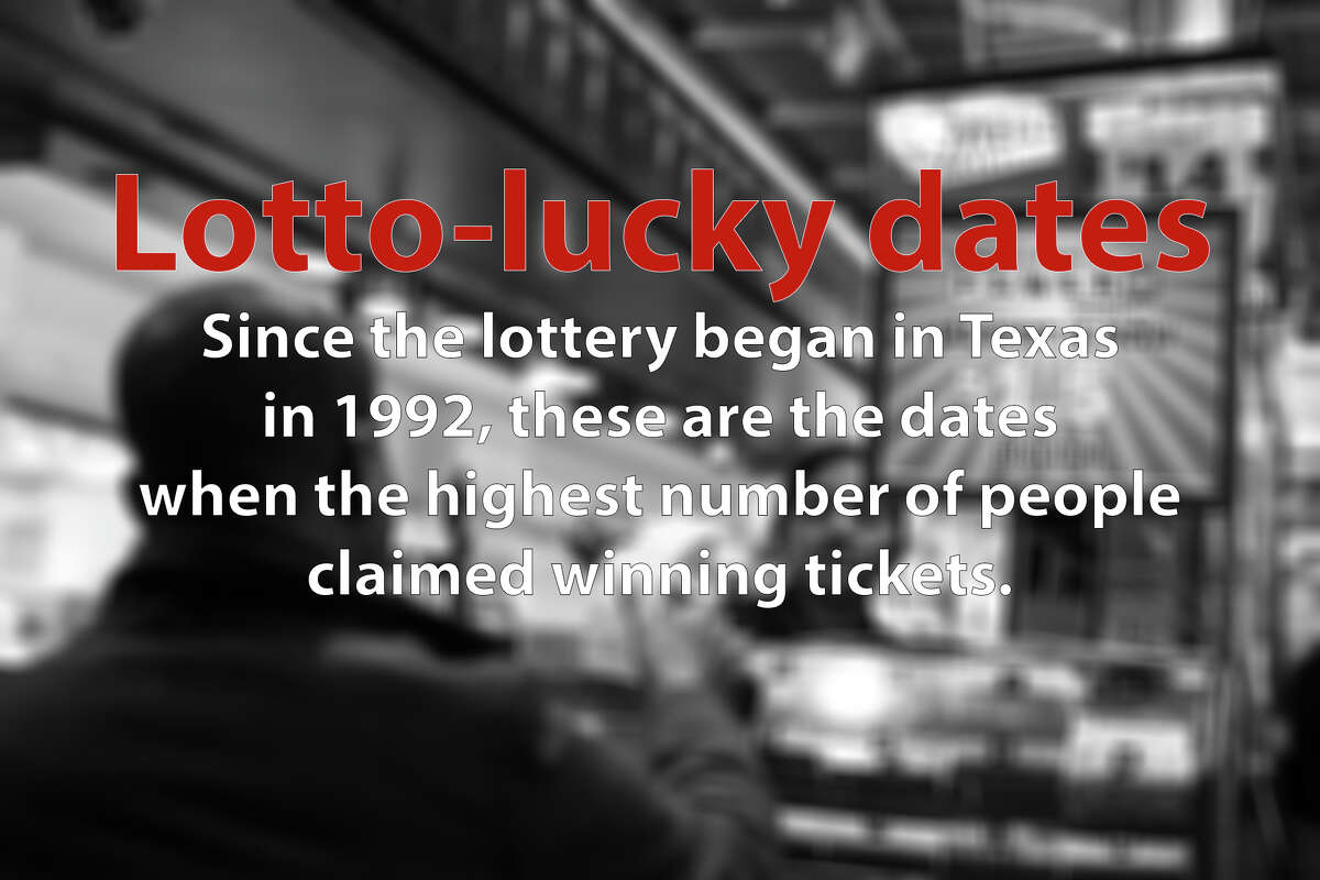 Some dates have proven luckier for lottery players than others. Since the lottery began in Texas in 1992, these are the dates when the highest number of people claimed winning tickets.