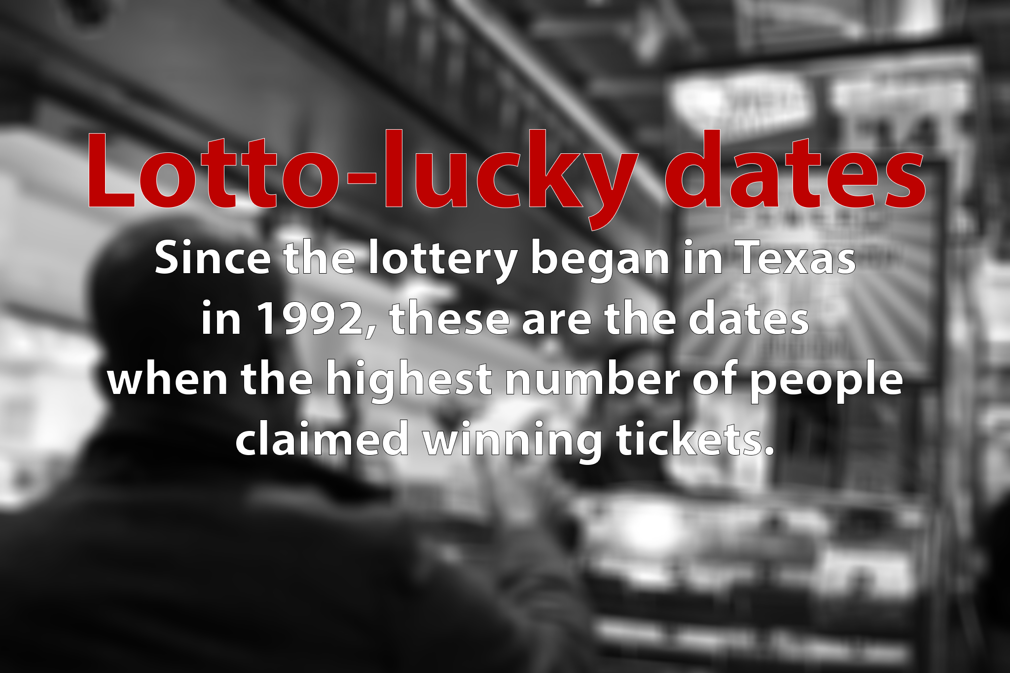 Lotto lucky: These are the most common dates Texans have