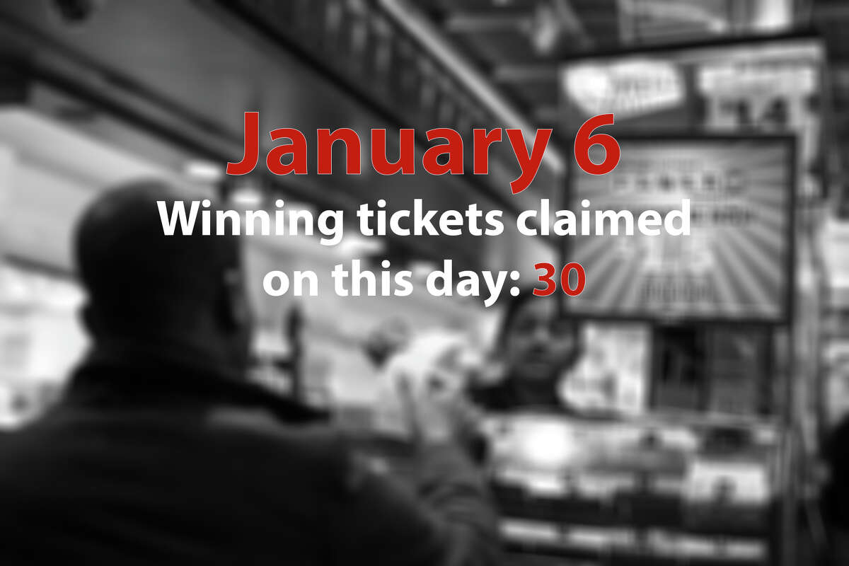 13. (tie) January 6 Winning tickets claimed on this day: 30