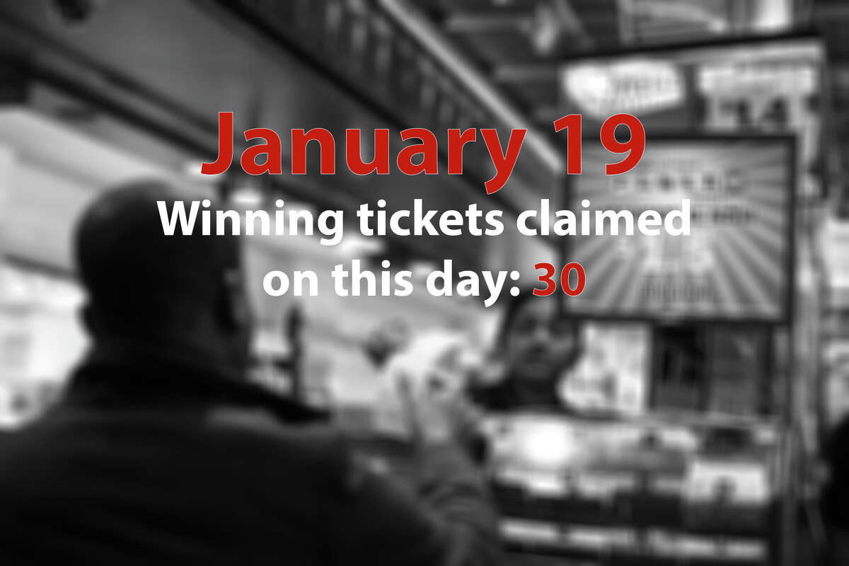 13. (tie) January 19 Winning tickets claimed on this day: 30