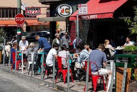 Tony's Pizza on Stockton Street. Photo: Santiago Mejia / The Chronicle