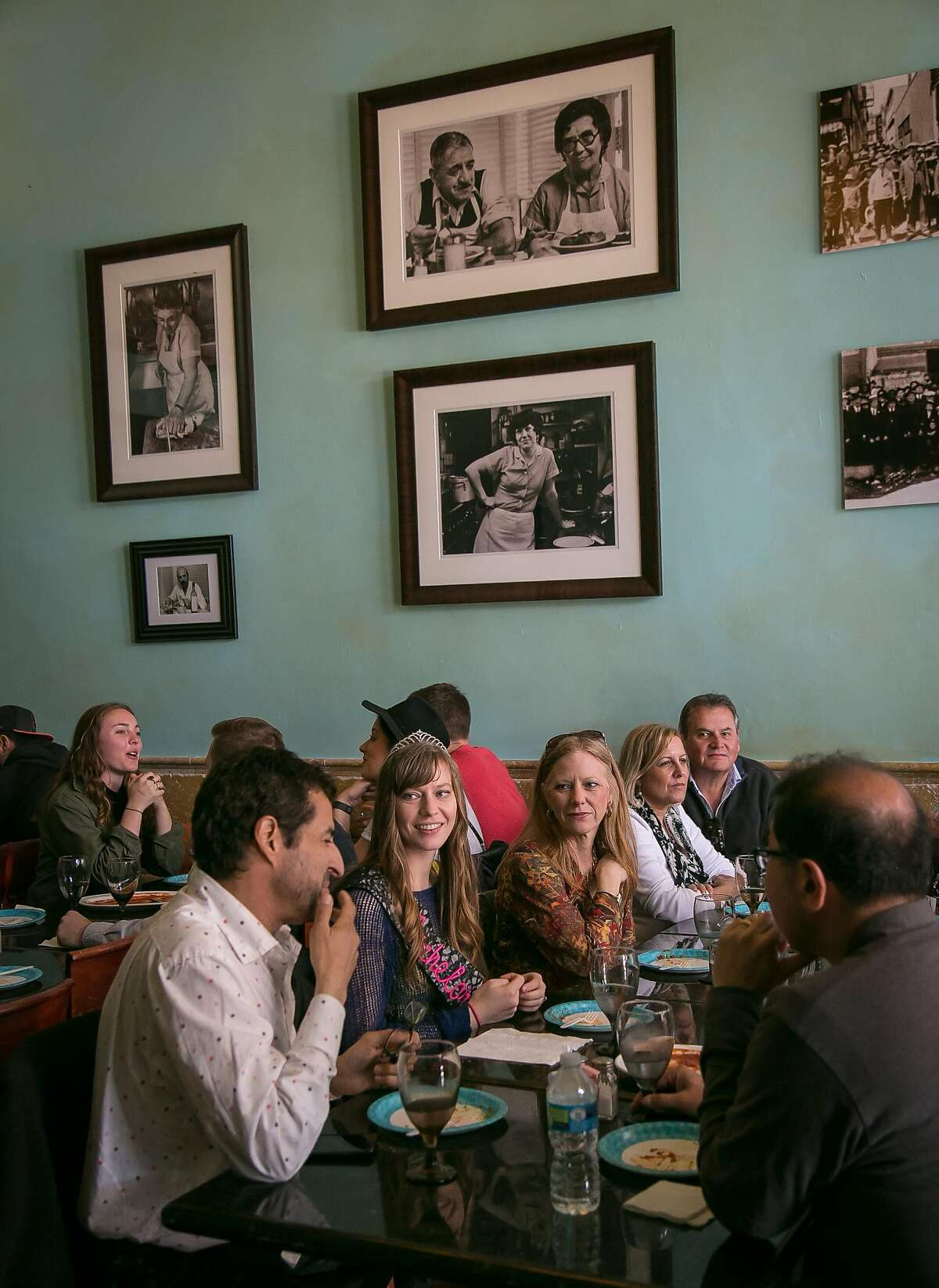 People have lunch at the Original U.S. Restaurant in San Francisco, Calif. on Saturday, February, 13th, 2016.