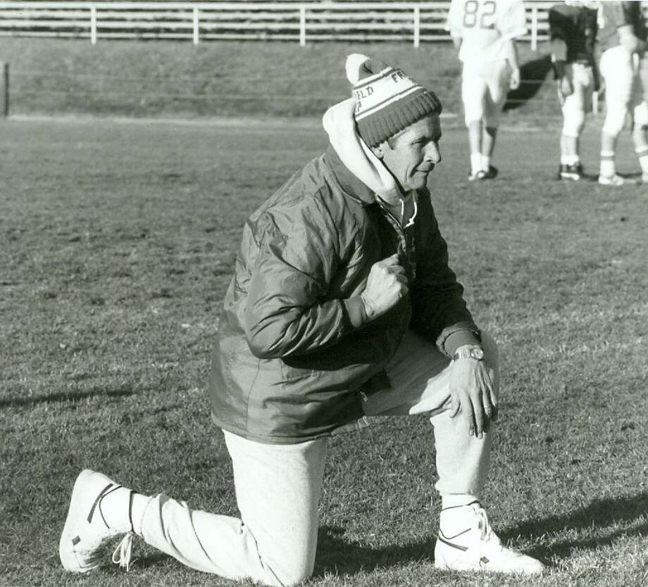 Earl Lavery keeps a keen eye on his Jesuits in this file photo. When he retired, the Fairfield Prep football coach had the most wins in Connecticut history. Photo: Contributed Photo / Contributed Photo / Fairfield Citizen