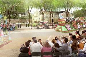 Under the proposed re-routing of the Battle of Flower and Fiesta Flambeau parades, floats and other entries would pass just south of the iconic Alamo church.
