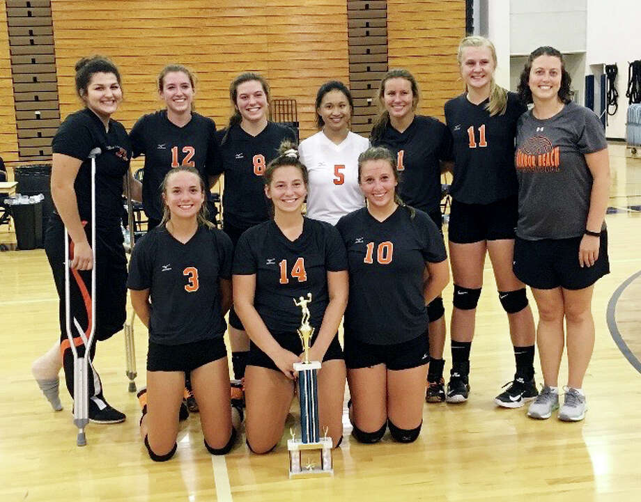 Harbor Beach's volleyball team poses after winning the Hatchet Volleyball Invitational, Saturday, in Bad Axe. (Submitted Photo)