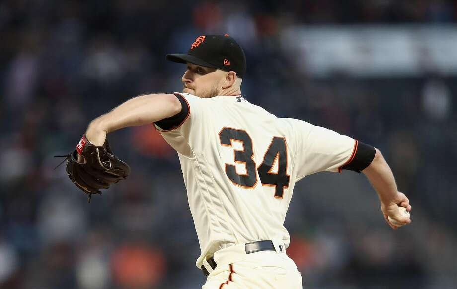 SAN FRANCISCO, CA - AUGUST 27:  Chris Stratton #34 of the San Francisco Giants pitches against the Arizona Diamondbacks in the first inning at AT&T Park on August 27, 2018 in San Francisco, California.  (Photo by Ezra Shaw/Getty Images) Photo: Ezra Shaw / Getty Images