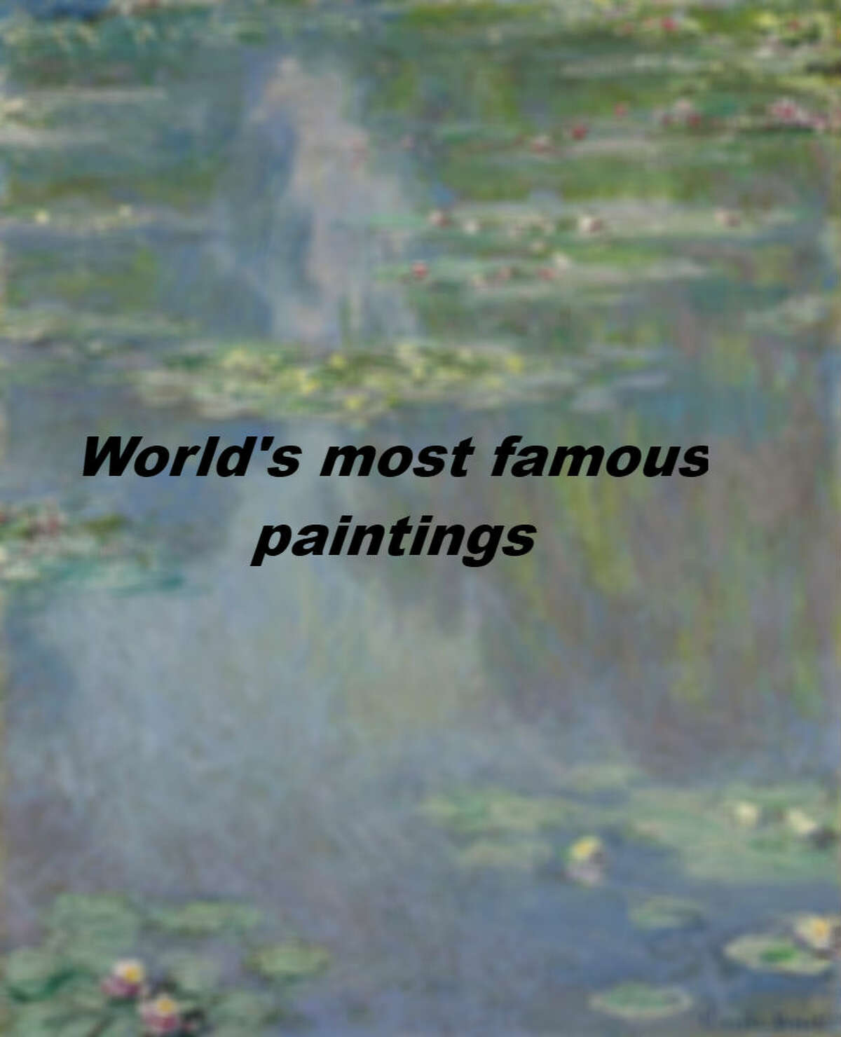 World's most famous paintings