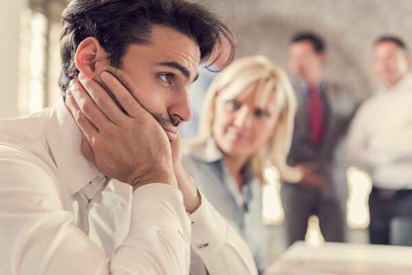 An employee is thinking about leaving their job despite the pleas of co-workers.