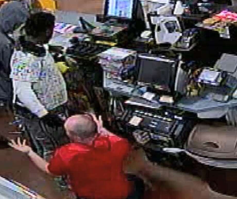 The Montgomery County Sheriff's Office seeks the public's help in identifying three suspects in an alleged armed robbery at a Circle K gas station in Porter on Aug. 23, 2018. The suspects, one of whom is in custody, are also allegedly linked to a sexual assault and armed robbery that occurred at an adult store in Houston. Photo: Montgomery County Sheriff's Office