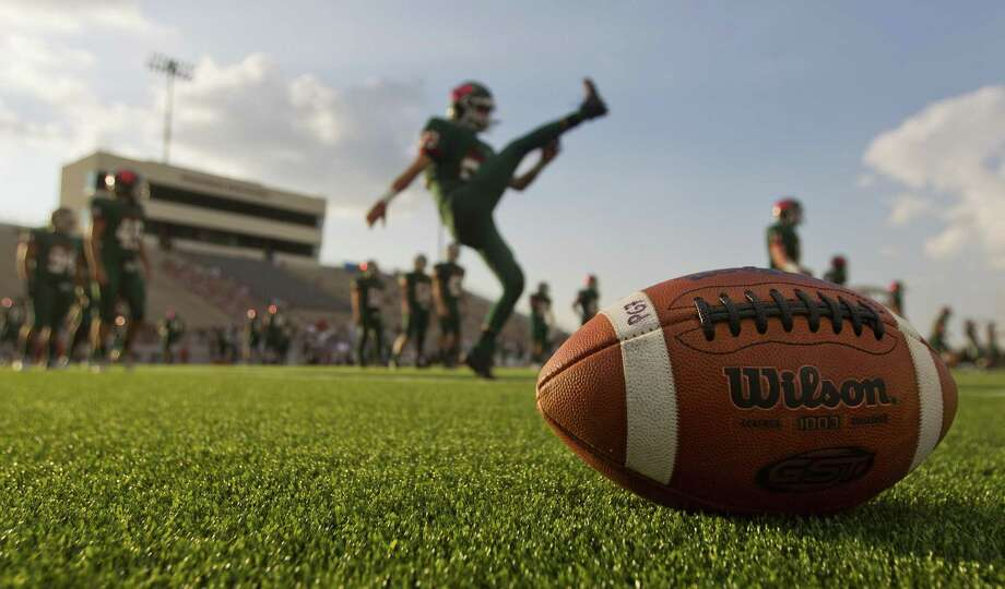The Woodlands players warm up before a non-district high school football game against George Ranch at Woodforest Bank Stadium, Friday, Sept. 22, 2017, in Shenandoah. Photo: Jason Fochtman, Staff Photographer / Houston Chronicle / © 2017 Houston Chronicle