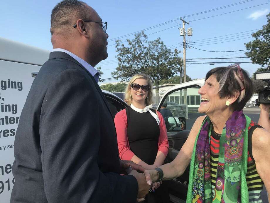 In an effort to fight for additional funds for Meals on Wheels, U.S. Rep. Rosa DeLauro, D-3, rode along delivery worker Tuesday to highlight how flat federal funding has impacted local seniors. Photo: By Jessica Lerner