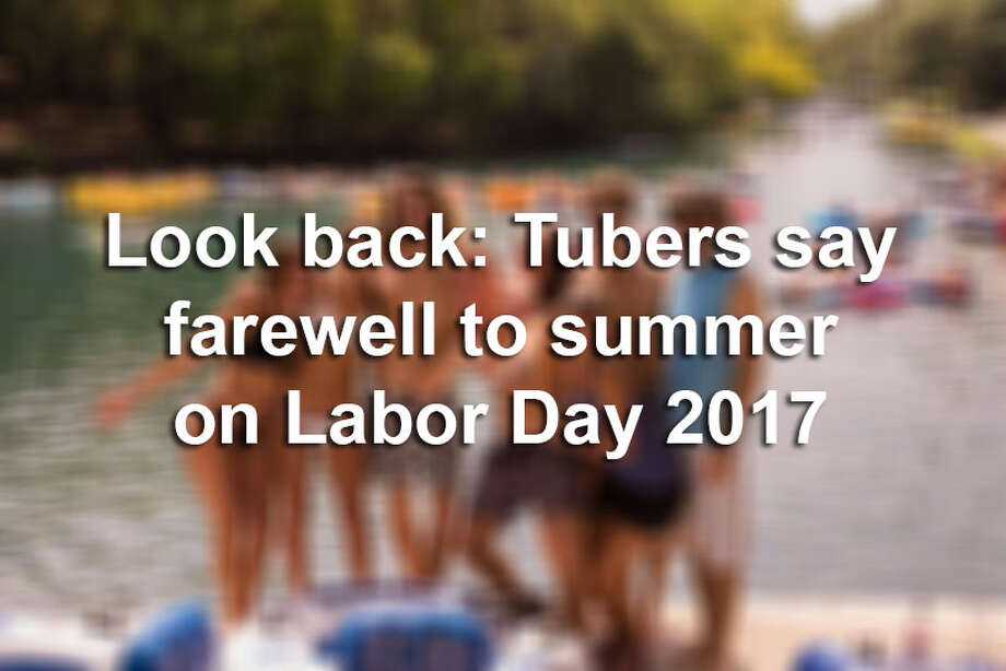 Tubers made the most of Labor Day weekend Saturday Sept. 2, 2017, on the Guadalupe River as they floated, frolicked and splashed around during the unofficial last bash weekend of the summer tubing season. Photo: Kody Melton For MySA