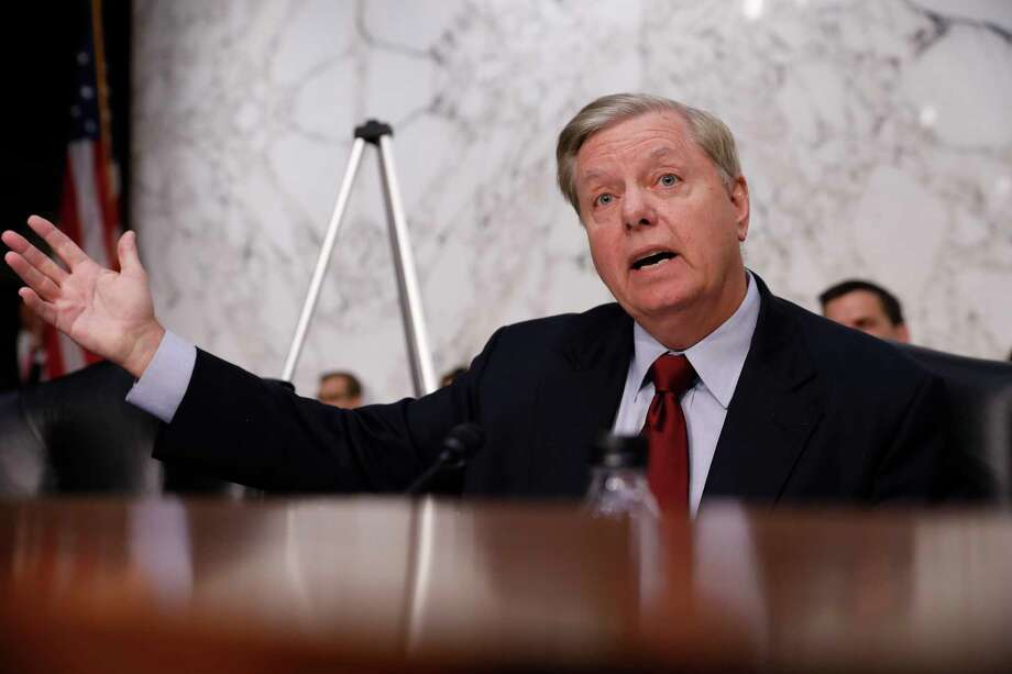 Lindsey Graham, now a Republican senator from South Carolina, was a member of the House at the time of President Bill Clinton's impeachment. Photo: Bloomberg Photo By Aaron P. Bernstein / © 2018 Bloomberg Finance LP