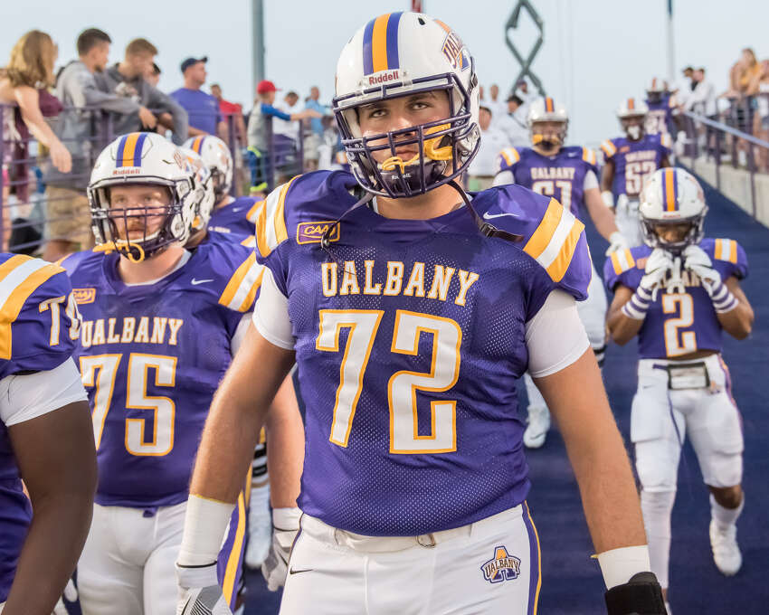 UAlbany junior Griffin Clancy, a Saratoga Springs graduate, will start at left guard in the opener at Pittsburgh on Saturday, Sept. 1. (Bill Ziskin/UAlbany athletics)