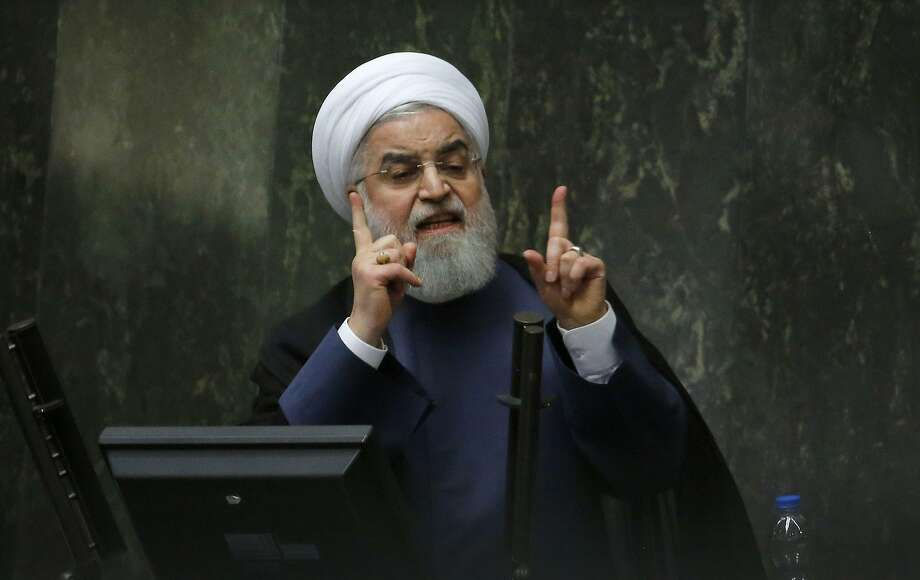 Parliament ordered embattled President Hassan Rouhani to answer questions on the economy. Photo: Atta Kenare / AFP / Getty Images