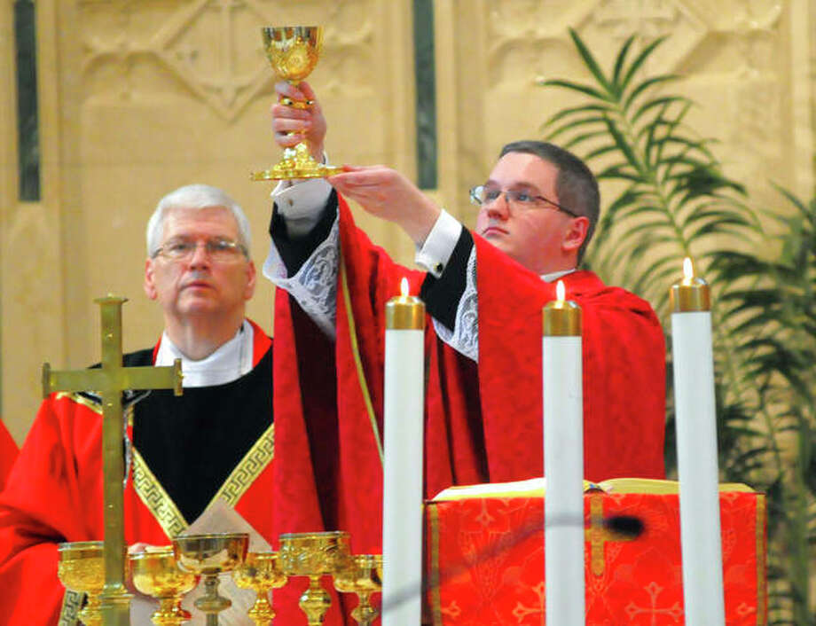 The Rev. Kevin M. Lonergan of Pottsville, Pennsylvania, was charged last week with corruption of minors and indecent assault. Andy Matsko | Republican-Herald (AP)