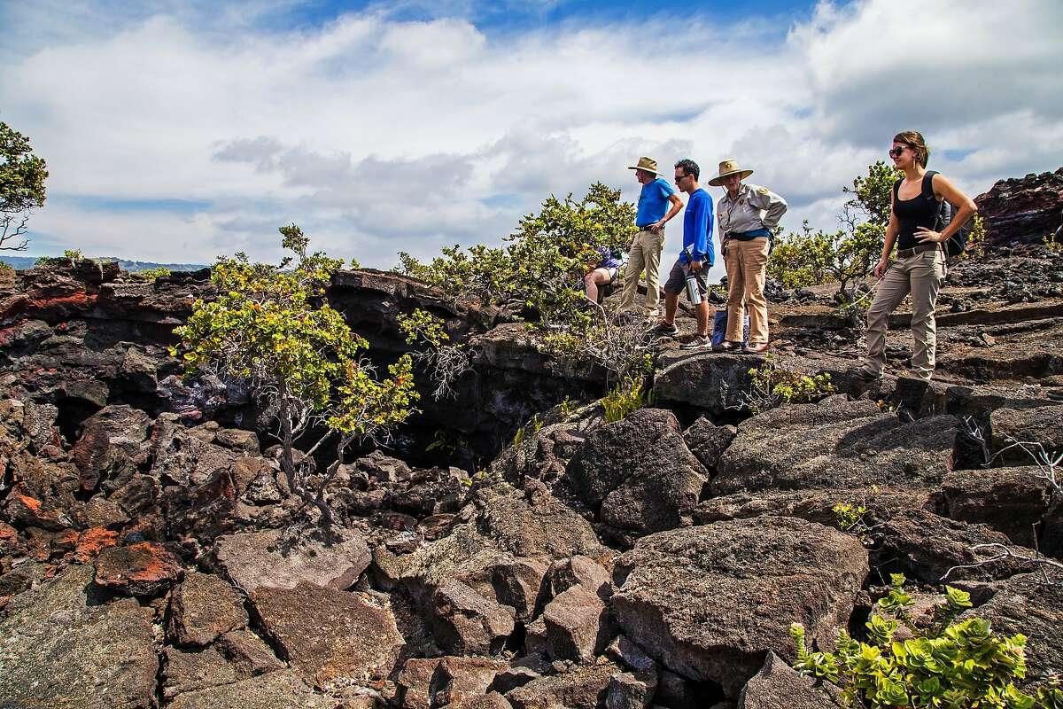 Mauna Loa?•s 1868 lava flow created the distinctive topography of Hawaii Volcanoes National Park?•s Kahuku District.
