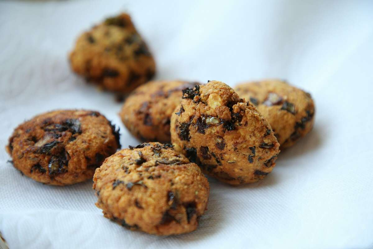 Fresh Masala Vadai is ready to eat as Vijitha Shyam, a molecular biologist who does chai pop-up with Tapestry Suppers, cooks a family meal at home on Sunday, July 22, 2018, in San Jose, Calif.
