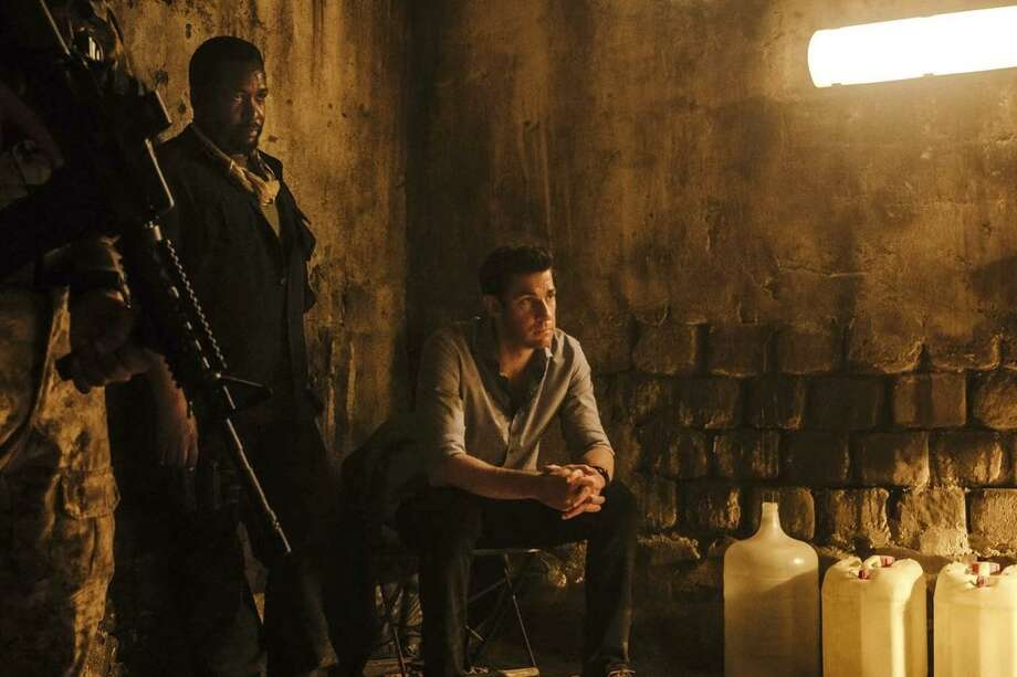 """Wendell Pierce (left) and John Krasinski in the series """"Jack Ryan,"""" the titular ex-Marine already the subject of multiple Tom Clancy books and five movies. Photo: Amazon Studios"""