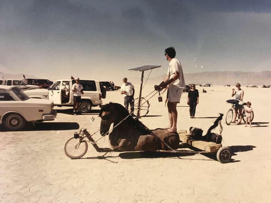 Burning Man in 1994. Photo: Owen James