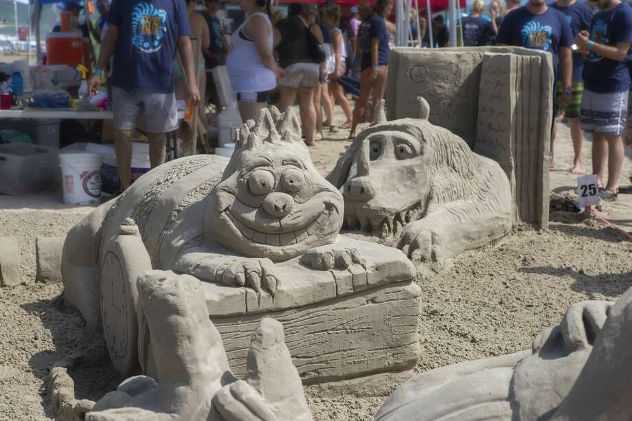 Scenes from the AIA Sandcastle Competition put on Aug. 25 by the American Institute of Architects' Houston chapter. Photo: Rhonda Lowe/AIA