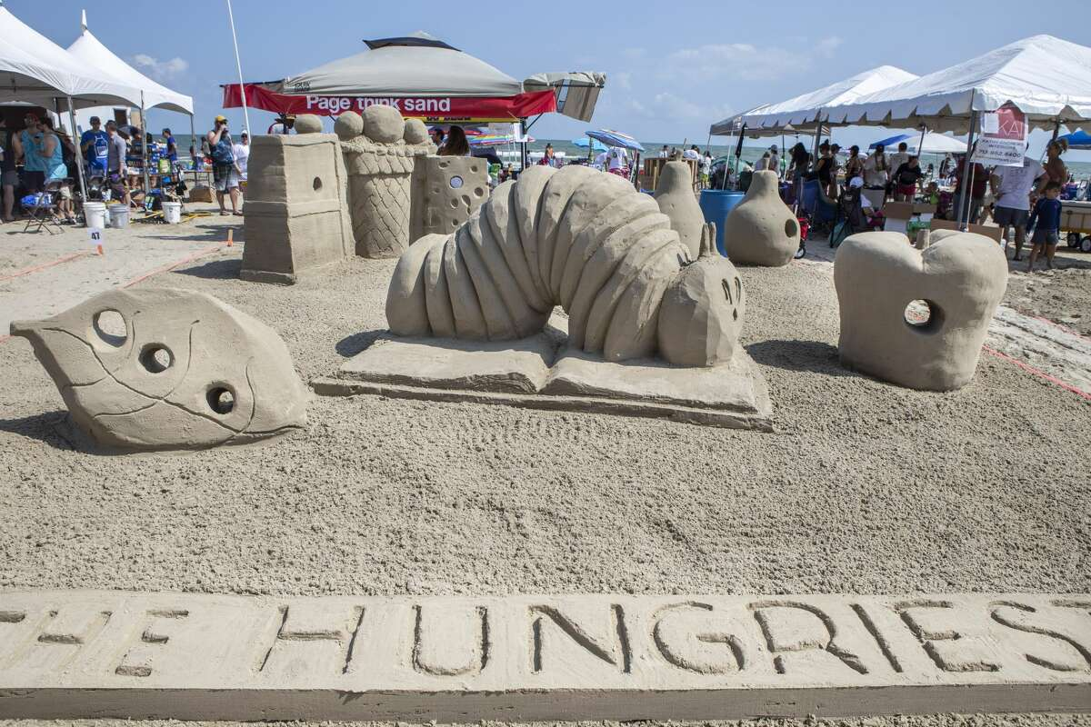 Scenes from the AIA Sandcastle Competition put on Aug. 25 by the American Institute of Architects' Houston chapter.