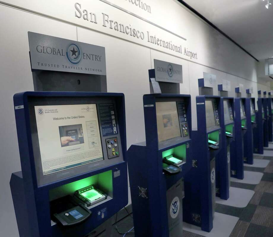 View of the Global Entry computers at the U.S. Customs and Border Protection in the San Francisco International airport in San Francisco, Calif. Photo: Liz Hafalia, Staff / The Chronicle / online_yes