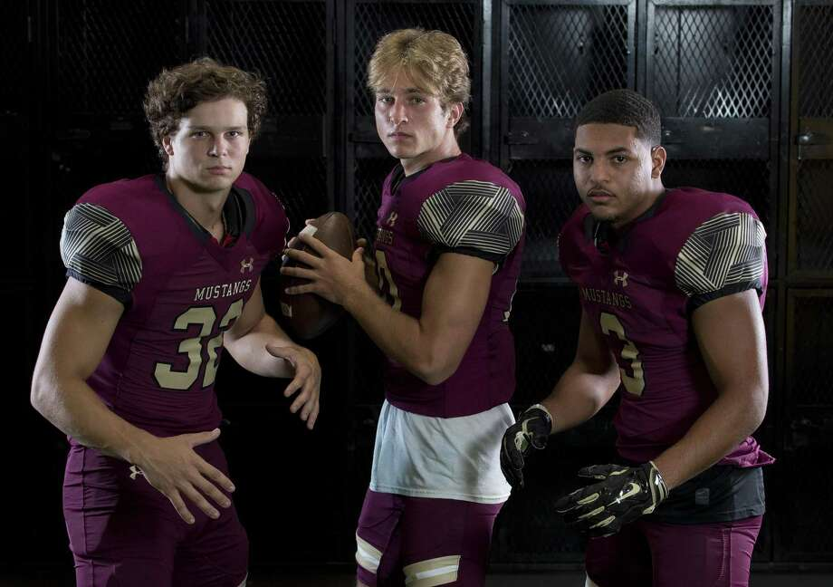 From left: Linebacker John Andrews, quarterback John Matocha and receiver Tre Lamelle will be key players for Magnolia West this season. Photo: Jason Fochtman, Staff Photographer / Houston Chronicle / © 2018 Houston Chronicle