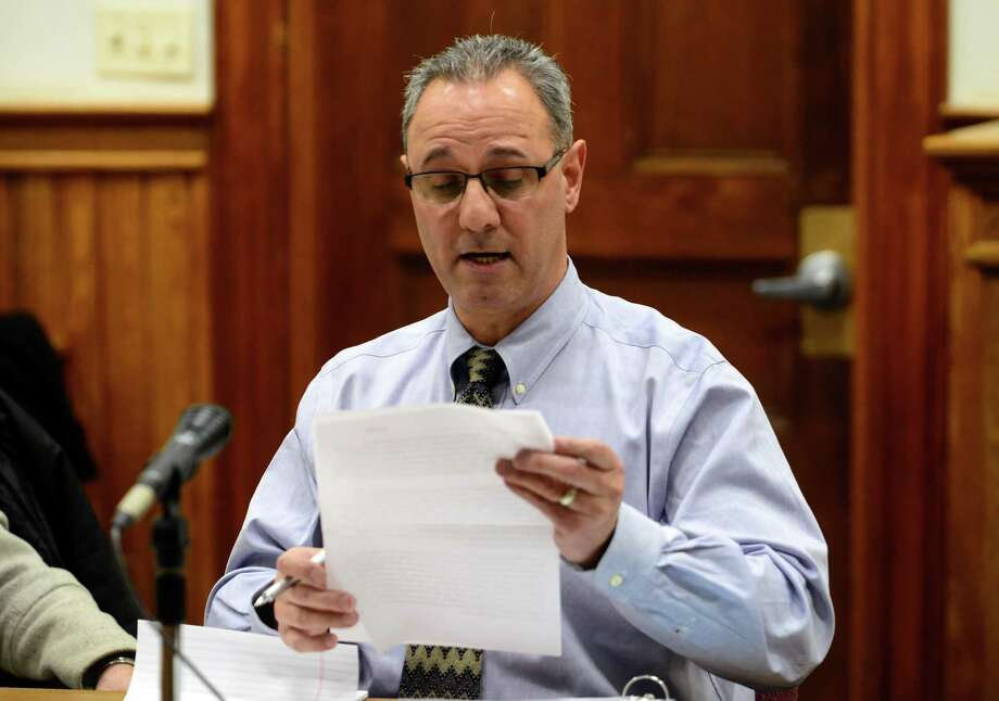 John Izzo, co-chairman of the Ansonia and Derby School Regionalization committee, believes there are only a half dozen companies who handle the type of consulting work the committee needs. Photo: Christian Abraham / Hearst Connecticut Media / Connecticut Post