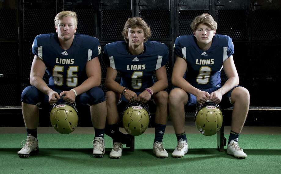 Lake Creek football players (from left) Chance Niesner, Ethan Harper and Dayeton Sweeting. Photo: Jason Fochtman, Staff Photographer / Houston Chronicle / © 2018 Houston Chronicle