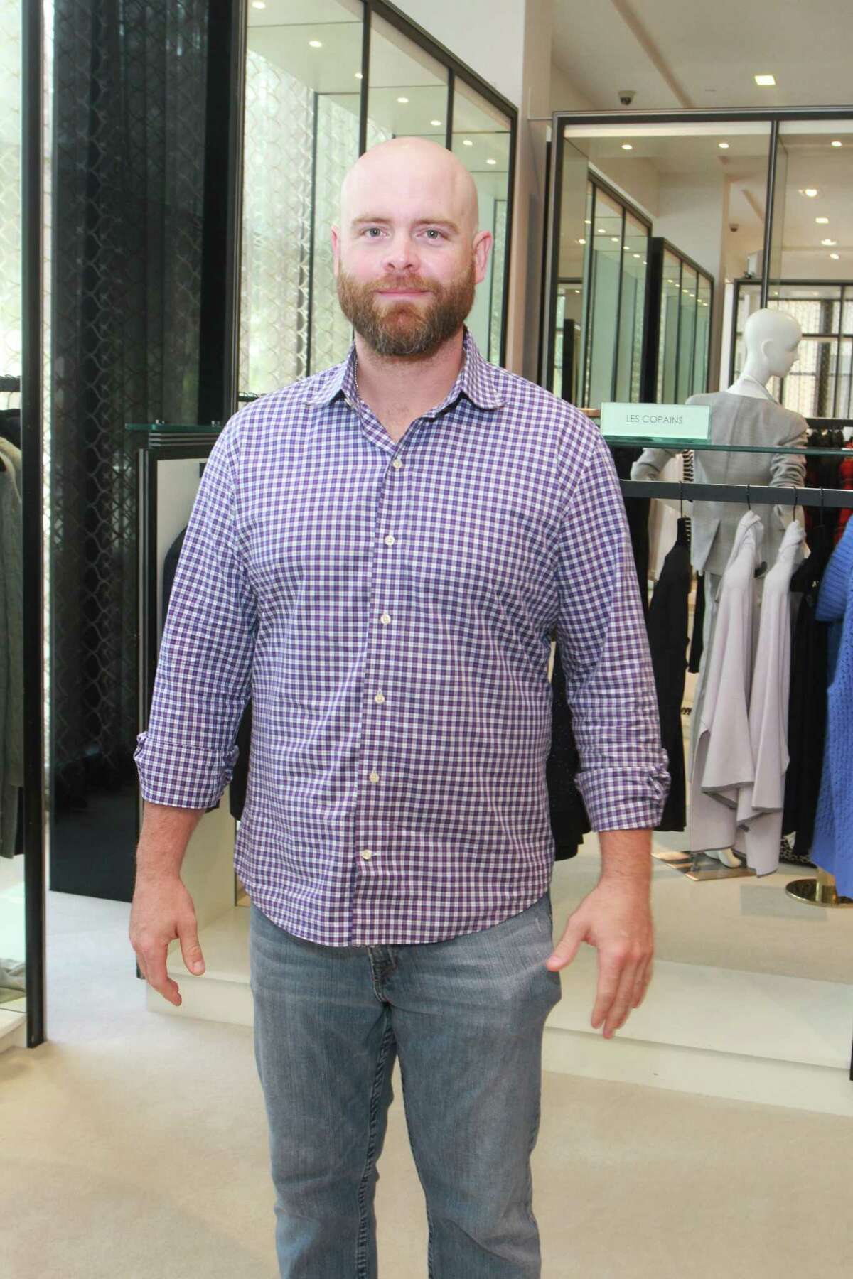 Astros Brian McCann at the luncheon at Tootsies benefiting Help Cure HD.