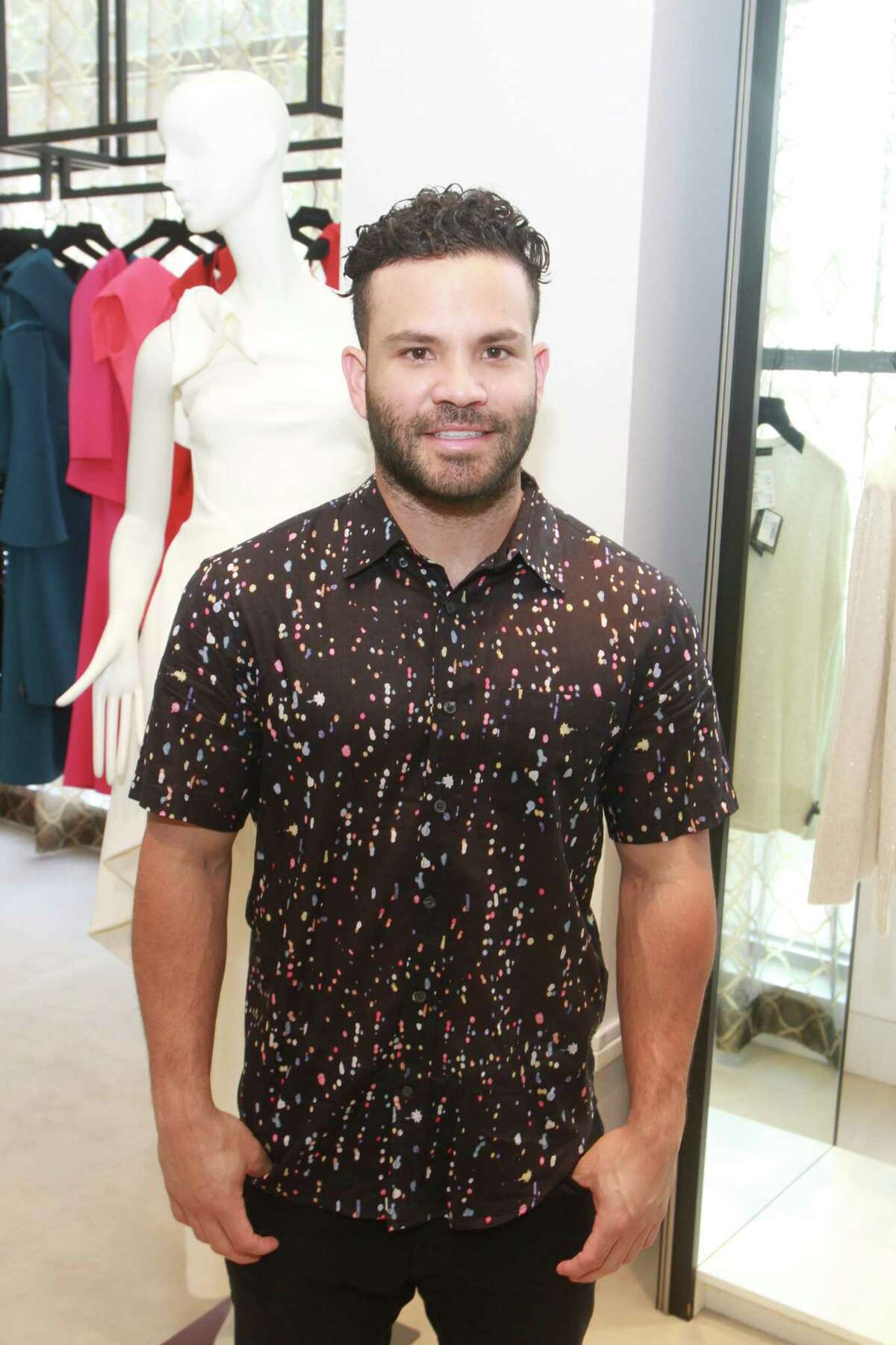 Astros Jose Altuve at the luncheon at Tootsies benefiting Help Cure HD.