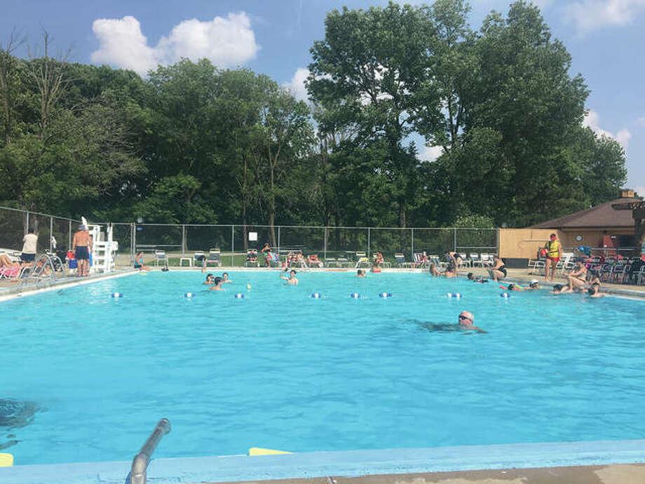 Swimmers enjoy the Edwardsville/Glen Carbon Community Pool on Sunday. Photo: Bill Tucker/Intelligencer