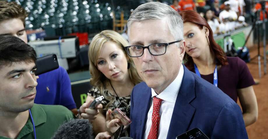 PHOTOS: Astros game-by-game Houston Astros GM Jeff Luhnow talks with the media at Minute Maid Park, Wednesday, July 11, 2018, in Houston, about the demotion of relief pitcher Ken Giles, whose poor performance in the ninth inning of Tuesday's game became newsworthy.  ( Karen Warren  / Houston Chronicle ) Browse through the photos to see how the Astros have fared in each game this season. Photo: Karen Warren/Houston Chronicle