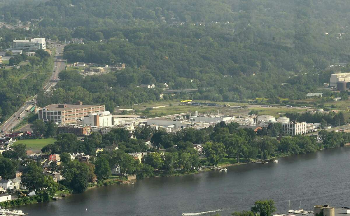 Former BASF site in Rensselaer which should receive final approval for a trash plant on Tuesday, Aug. 28, 2018 in Albany, N.Y. Photo taken from the Corning Tower. (Lori Van Buren/Times Union)