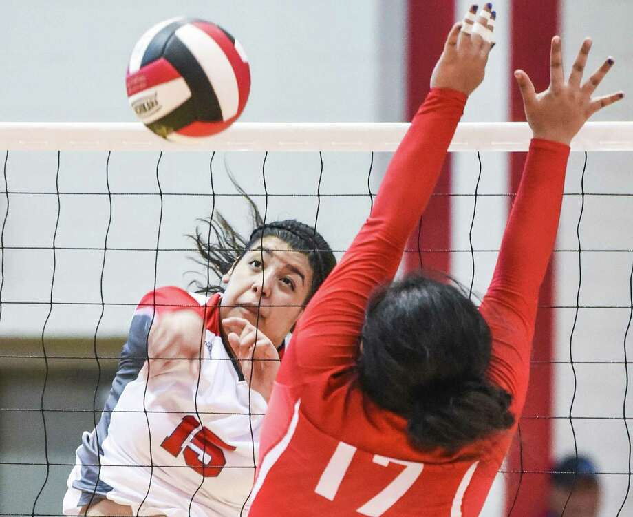 Melanie Duron had a game-high 18 kills Tuesday leading Martin to a 3-0 (25-17, 25-21, 25-17) win at home over La Joya. Photo: Danny Zaragoza /Laredo Morning Times