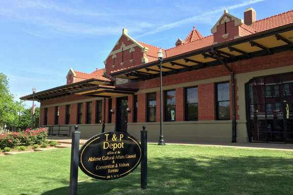 The historic T & P Depot building is now used for the Abilene Convention & Visitors Bureau's office. The city was established in 1881 when the T & P Railroad auctioned off lots in town.