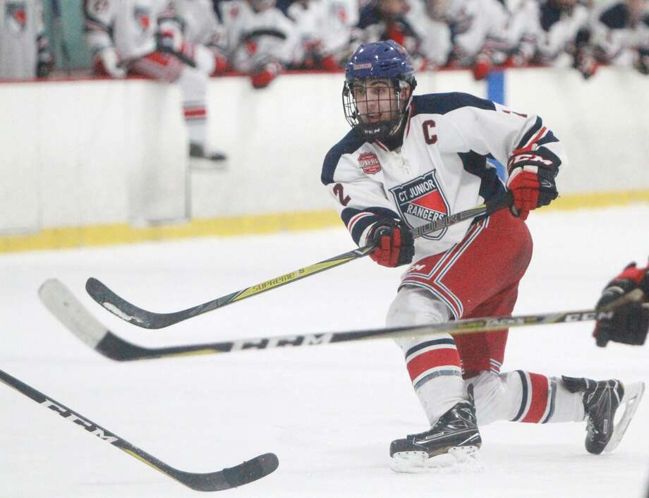 New Canaan resident Drew Hickey has committed to play college hockey at the University of New Hampshire. Photo: Contributed Photo / nicole goodhue boyb