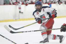 New Canaan resident Drew Hickey has committed to play college hockey at the University of New Hampshire.