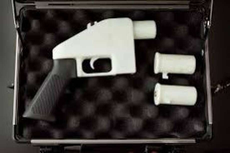 """A printable pistol released to Internet was named """"Liberator"""" in April 2013. Photo: Cody Wilson, Handout"""