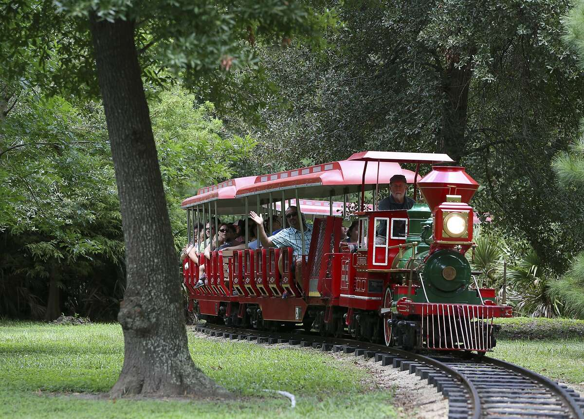 Hermann Park Railroad Train Take a ride on a beloved Houston train that goes through Hermann Park. Tickets are sold at the Hermann Park Conservancy Gift Shop at Kinder Station in Lake Plaza located at 6102 Hermann Park Drive. Hours for train, boats, and cafe are subject to change based on weather conditions or seasonally. For the most up-to-date hours, please click here.